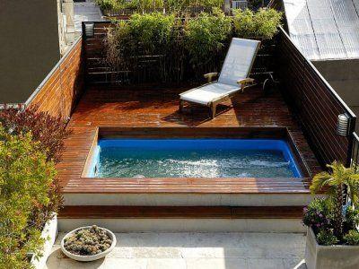 Piscina rectangular piscinita pinterest piscina for Piscina rectangular pequena