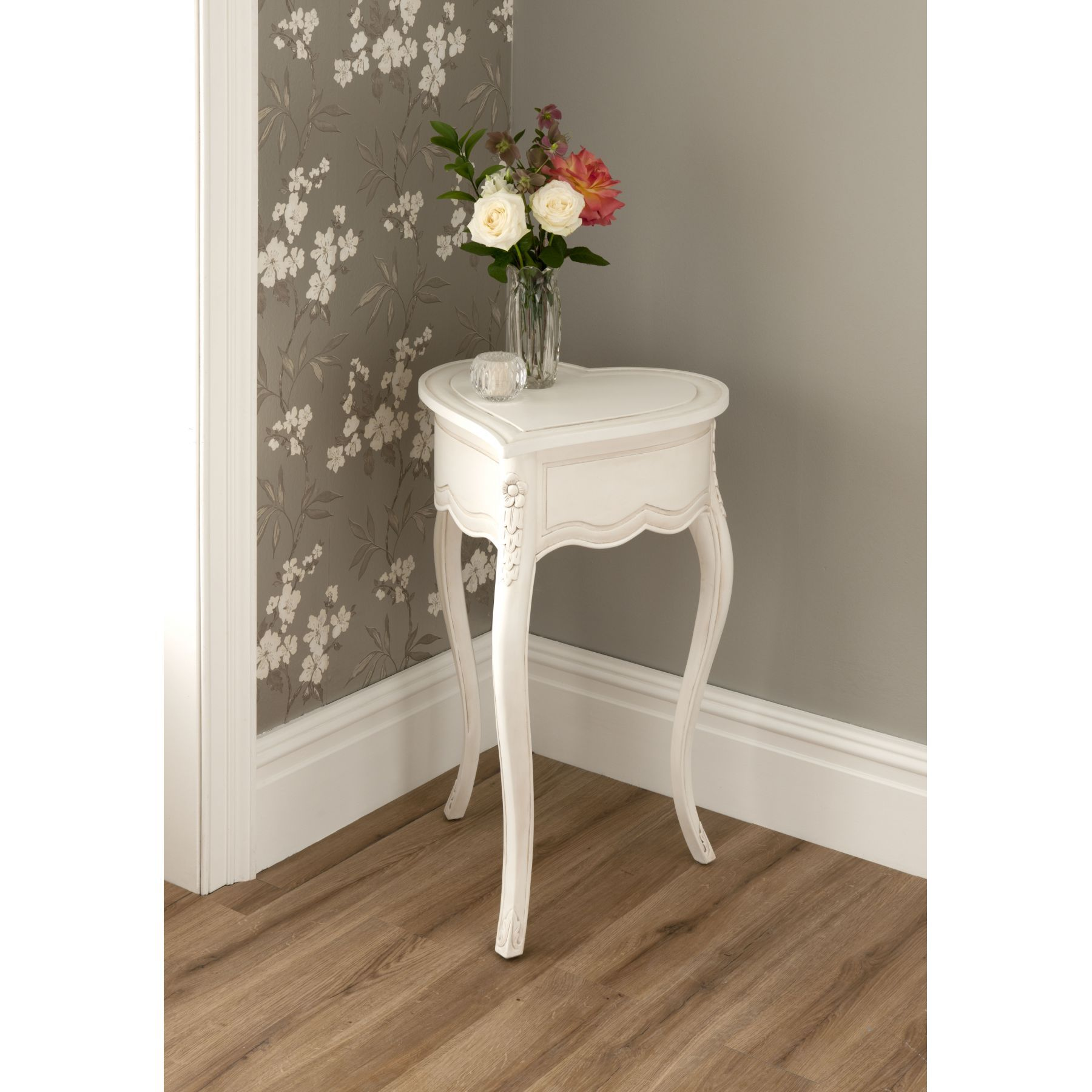 La Rochelle Love Heart Antique French Side Table Is A Wonderful Addition  For Your Home