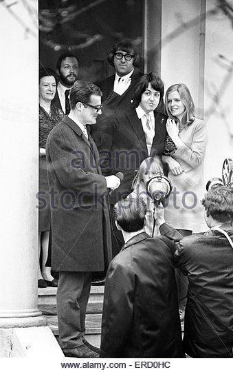 Civil Wedding Of Paul McCartney Linda Eastman Marylebone Register Office London 12th March 1969 Also Pictured 6 Year Old Heather Lindas Daughter
