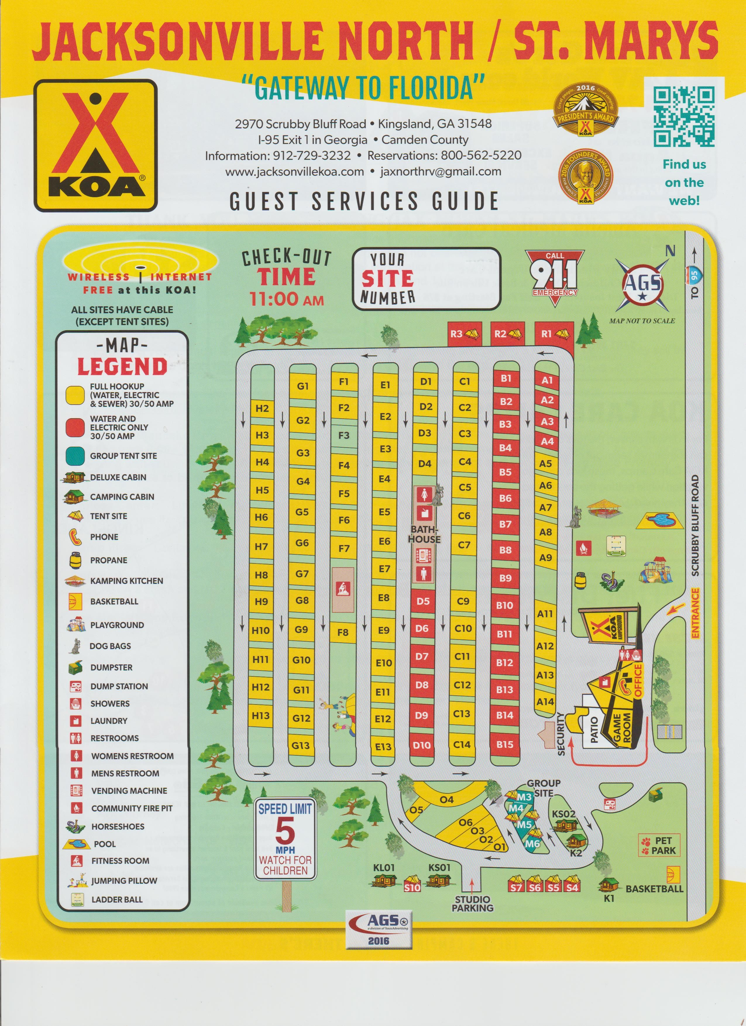 Map Of Kingsland Georgia.Campground Site Map Campgrounds Campsite Florida Camping