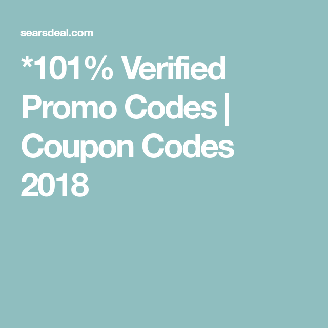 *101% Verified Promo Codes - Coupon Codes 2018