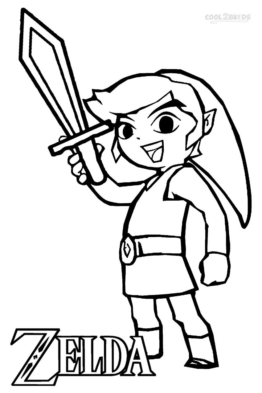 Zelda Coloring Book : zelda, coloring, Coloring