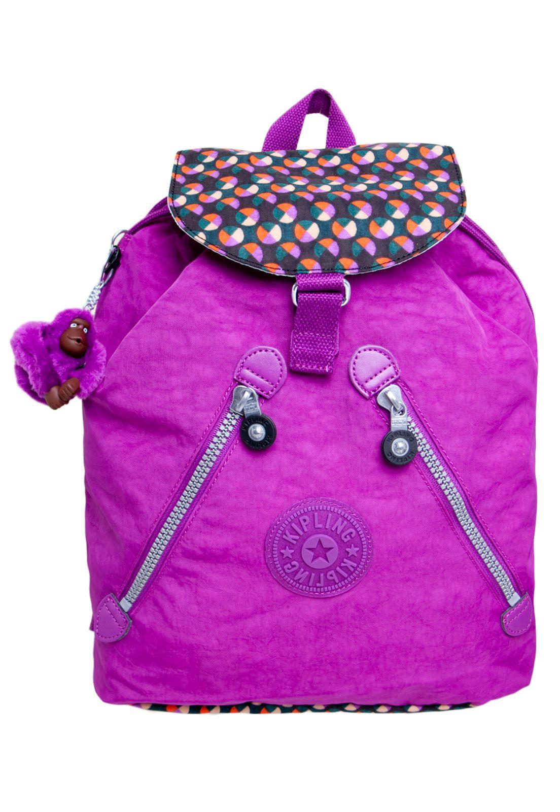 a864fb1f6 Mochila Kipling Roxa | Backpacks | Kipling bags, Backpacks, Bags