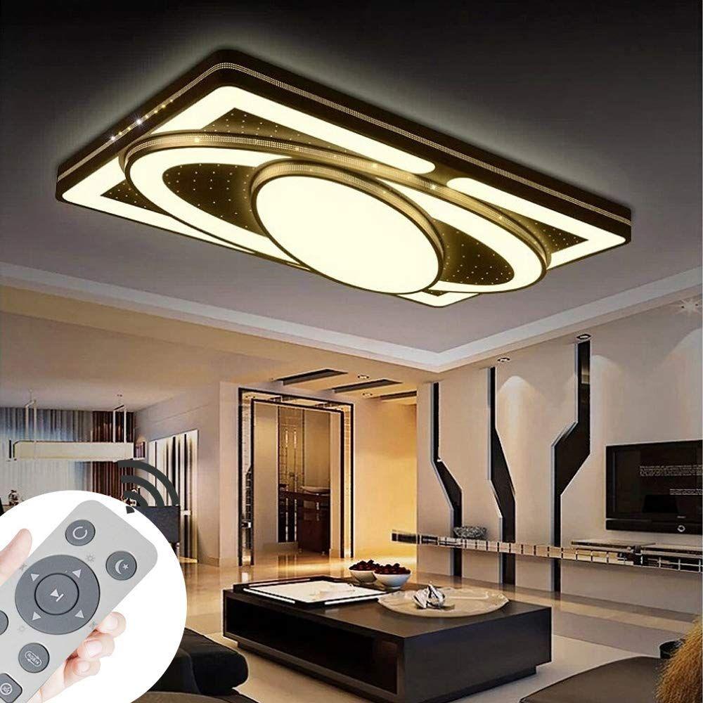 Myhoo 78w Design Led Deckenlampe Dimmbar Mit Fernbedienung Led Deckenleuchte Wohnzimmer Wohnzimmer Leuchte Deckenlampe Wohnzimmer Led Lampen Wohnzimmer