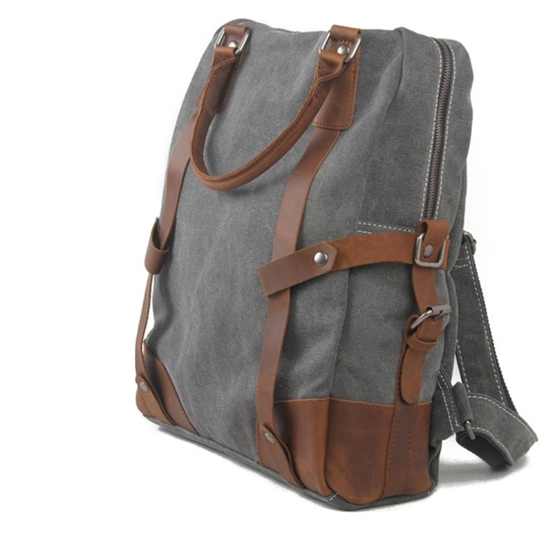 56.39$  Watch more here  - Canvas cowhide gennuie Leather Retro Messenger Shoulder Hand  Briefcase tote multifunactional laptop computer school book travel