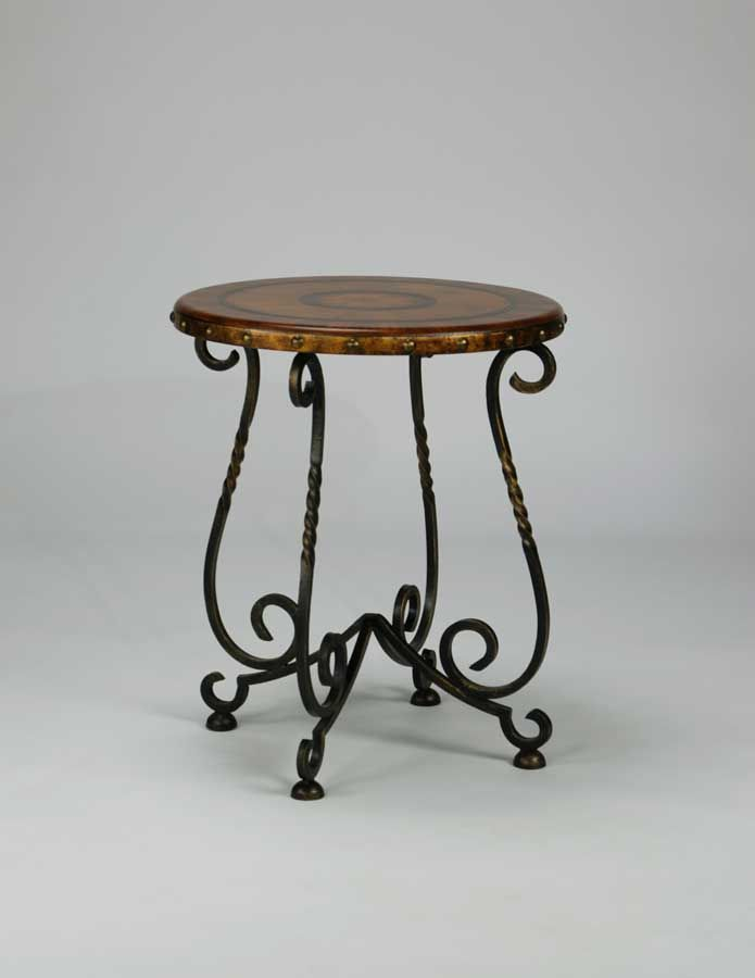 Circa Iron Base Round Lamp Table Ultimate Accents Table Side