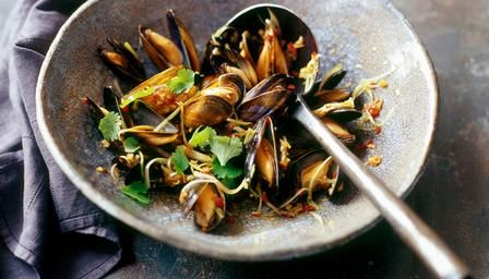 Try Ken Hom's fragrant steamed mussels for an economical and quick supper