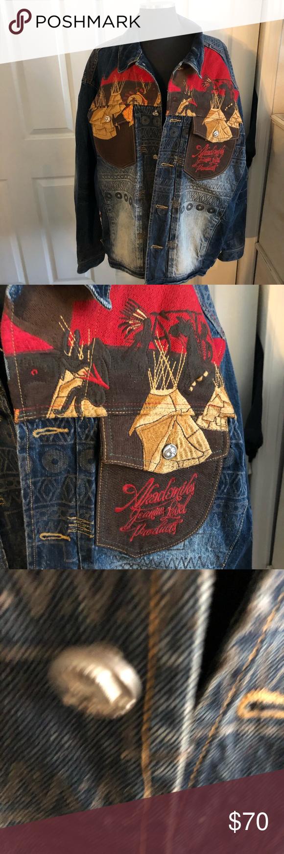 Mens Akademiks Native American Denim Jacket Indian Men Fashion Fashion American Denim [ 1740 x 580 Pixel ]