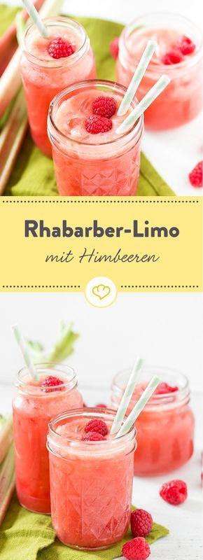 Spritziger Start in den Sommer: Rhabarber-Himbeer-Limonade #lemonade