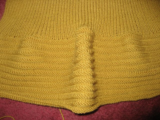 Mustardy Ribby Sweater Detail by LismondFriedy, via Flickr
