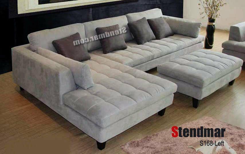 3 Piece Modern Grey Microfiber Sectional Sofa Set S168lg Microfiber Couch Ideas Of Mic Sectional Sofa With Chaise Modern Sofa Sectional Grey Sectional Sofa
