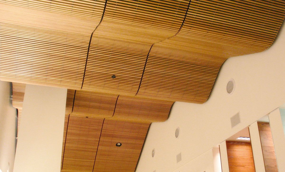 Panel grille rulon international inc wood ceiling panels roof ceiling ceiling texture