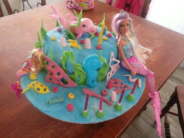 Mermaid Barbie Cake For My 4 Year Old Barbie Cake