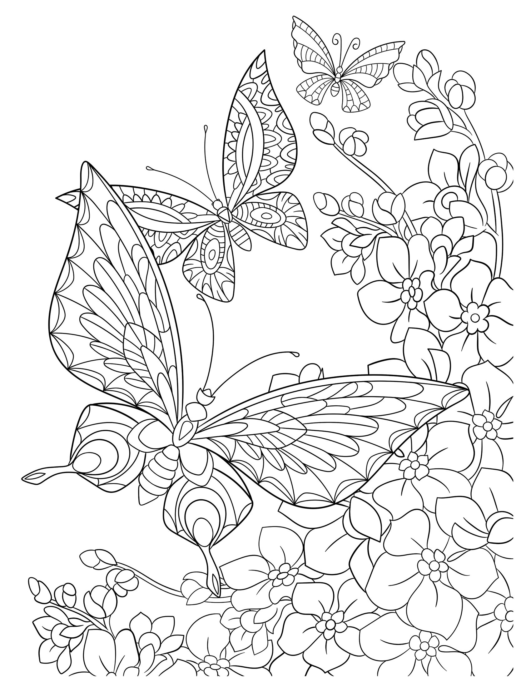 Spring Adult Coloring Page To Download Click On The Image To