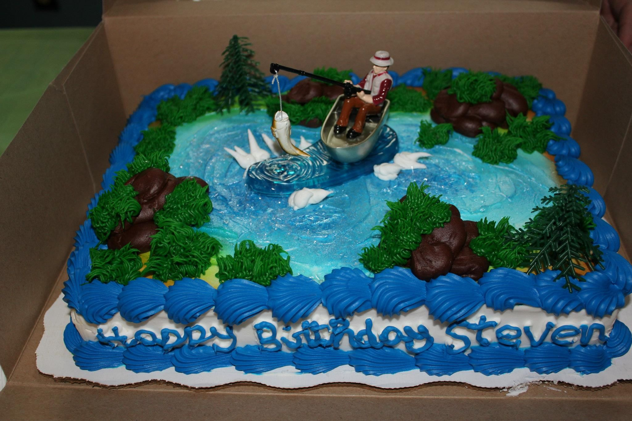 Fishing Theme Birthday Cake Walmart Bakery 20 Im Hungry