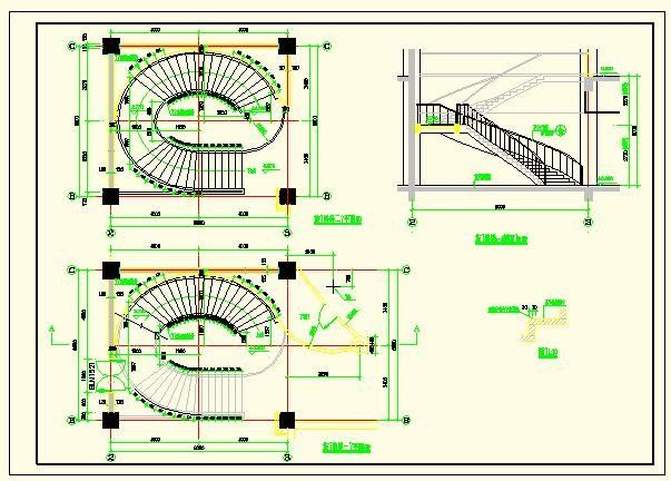 Elliptical Staircase Detail Autocad Blocks Crazy 3ds Max Free Autocad Staircase Architecture House