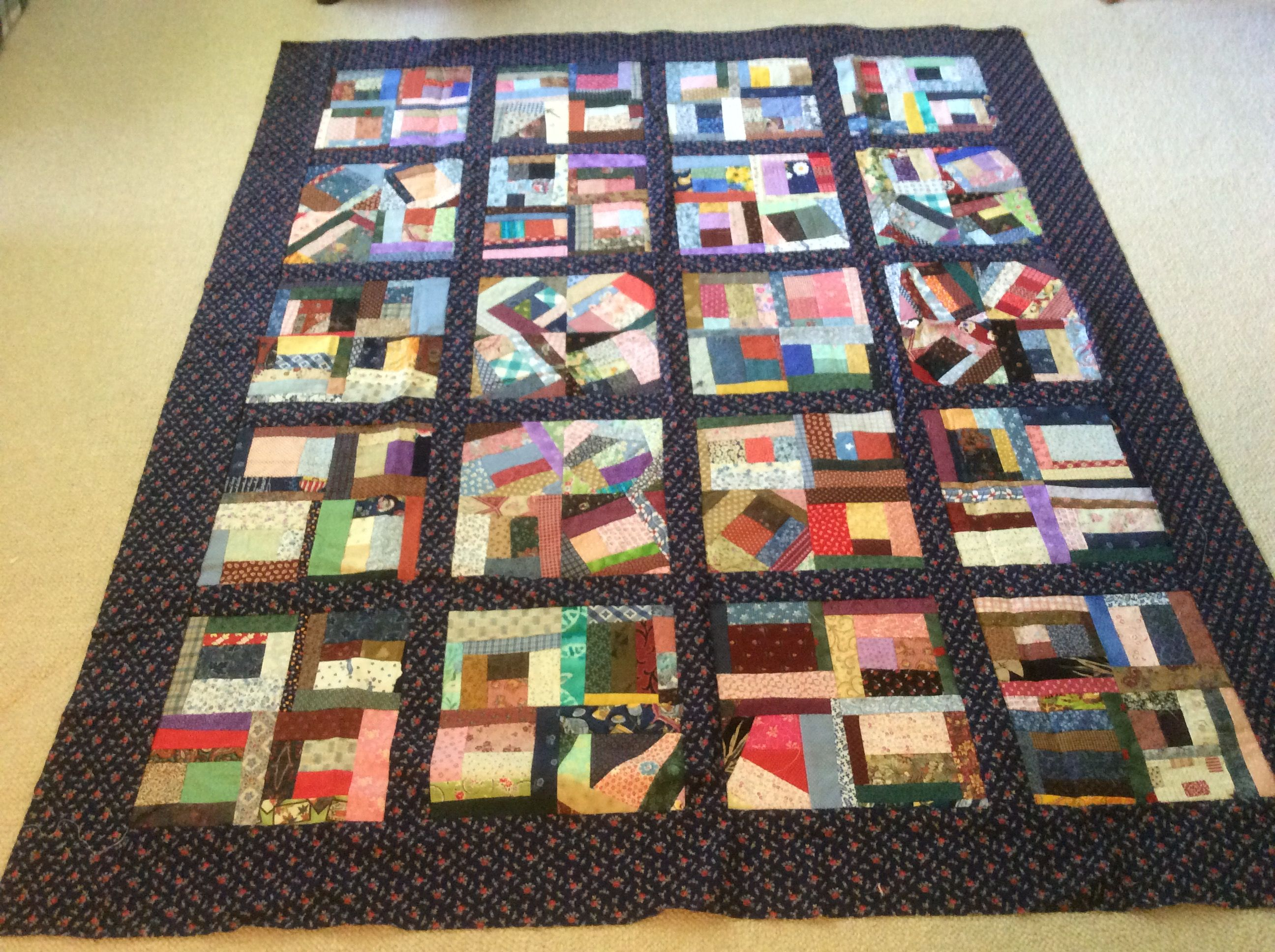 Crumb quilt made by Sharon Theriault