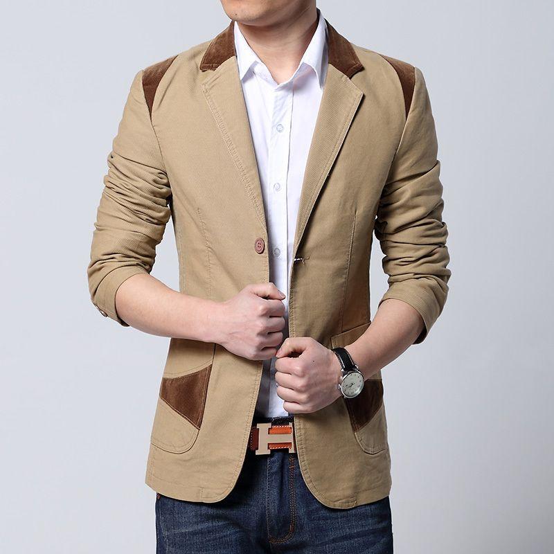 2017 New Hot sale men's blazer fashion jacket men blazers slim fit ...