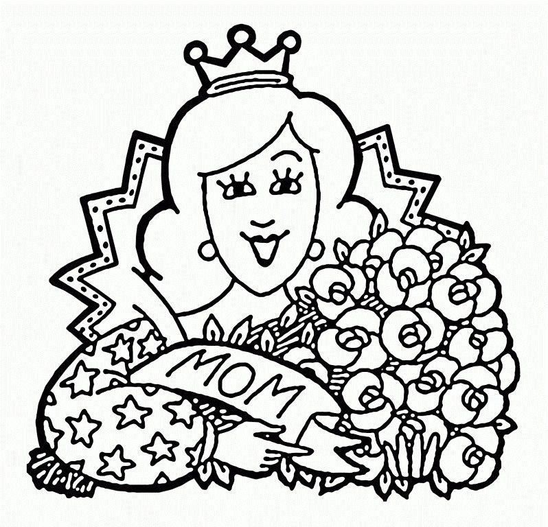 Queen Mom Mothers Day Coloring Pages Mothers Day Coloring Pages Mom Coloring Pages Bear Coloring Pages