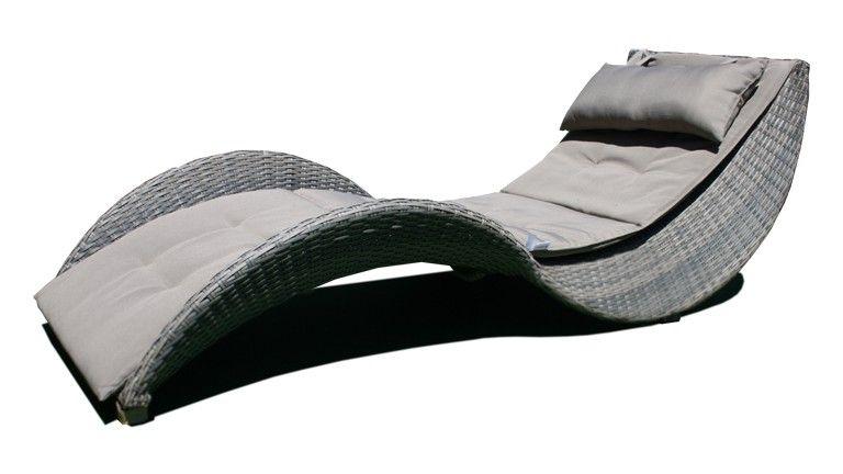 chaise longue moderne lorenza en resine