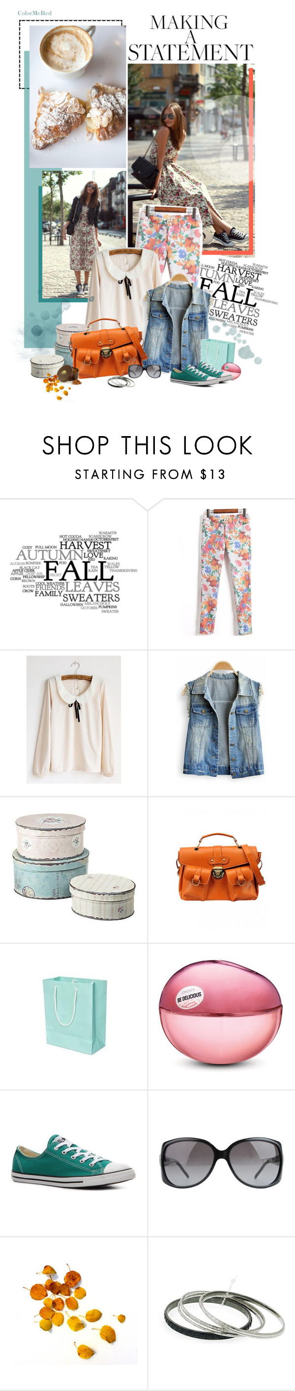 """""""Happy Weekend"""" by color-me-red ❤ liked on Polyvore featuring WALL, John Lewis, GUESS, DKNY, Converse, DANNIJO, Gucci and 1928"""