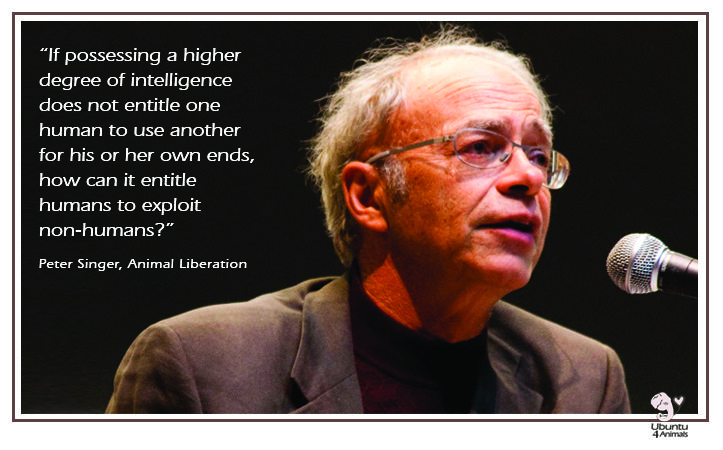 peter singer animal liberation essay Moral philosopher and princeton professor peter singer peter singer advocates for animal is the author of the controversial book animal liberation.