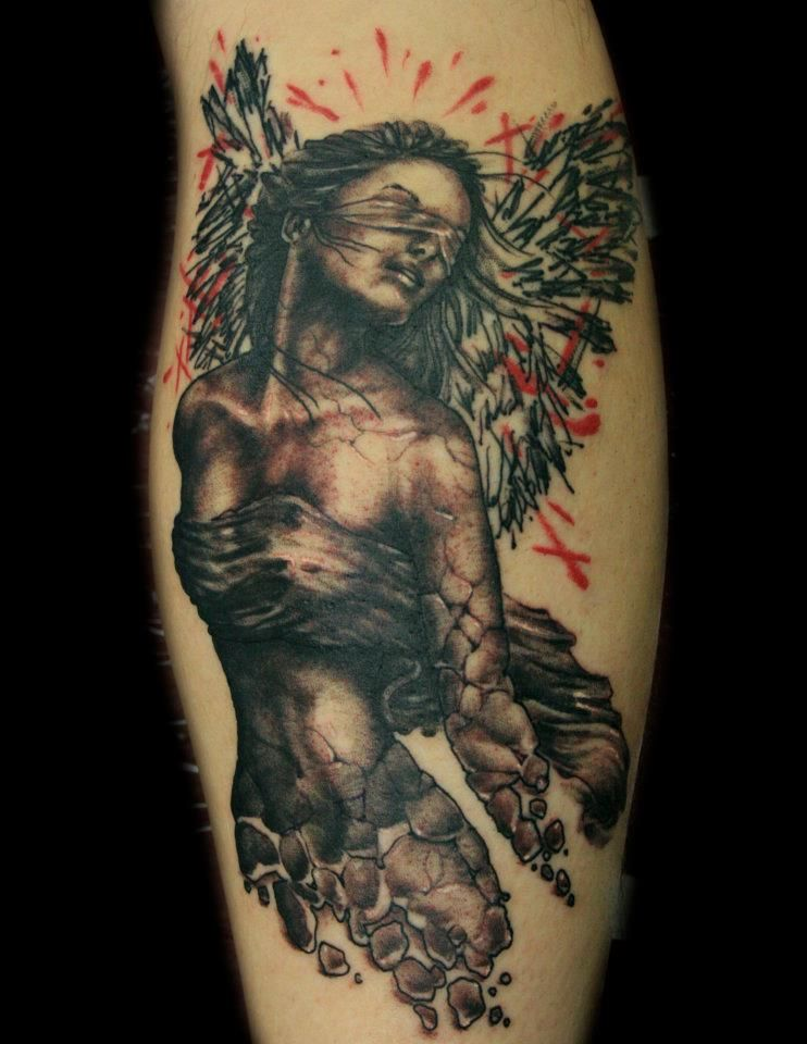 3763aa117ebe4 35 Beautiful Angel Tattoos Ideas | Spiritual Tattoos for Men | Dark ...