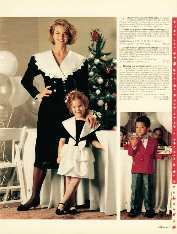 bbb5922ded Page from a 1990 JC Penney Holiday catalog.  catalog