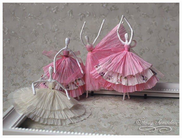 Paso a paso de bailarinas de servilletas de papel y - Servilletas decoradas de papel ...