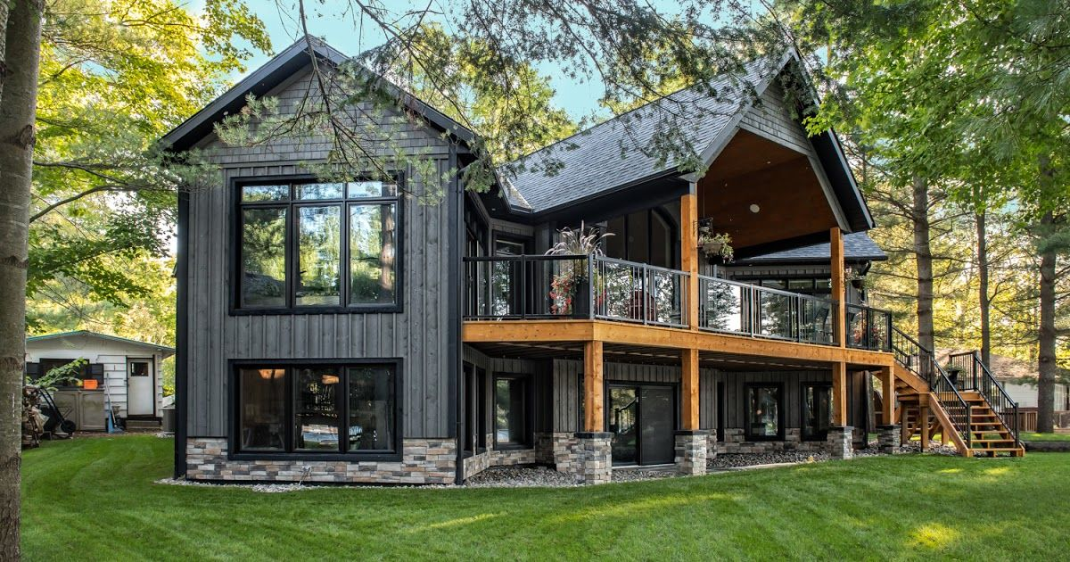 Retiring To A Custom Built Cottage Country Home Is A Beautiful Dream And An Incredibly Smooth E Beaver Homes And Cottages Home Building Design Lake House Plans
