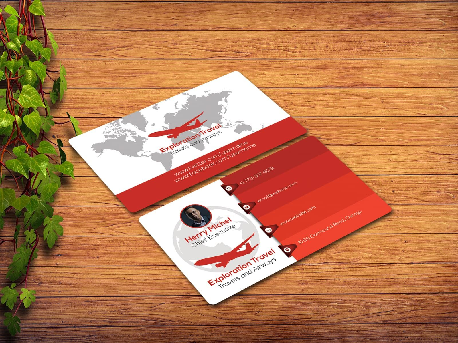 Exploration Travel Agency Business Card Freelance Business Card Agency Business Cards Business Cards Creative Templates