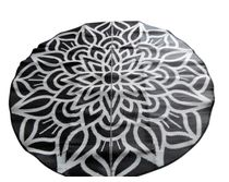 Mandala design - Ancestoral Connectedness By Ify Refini Duley 2.4m round in Black & White