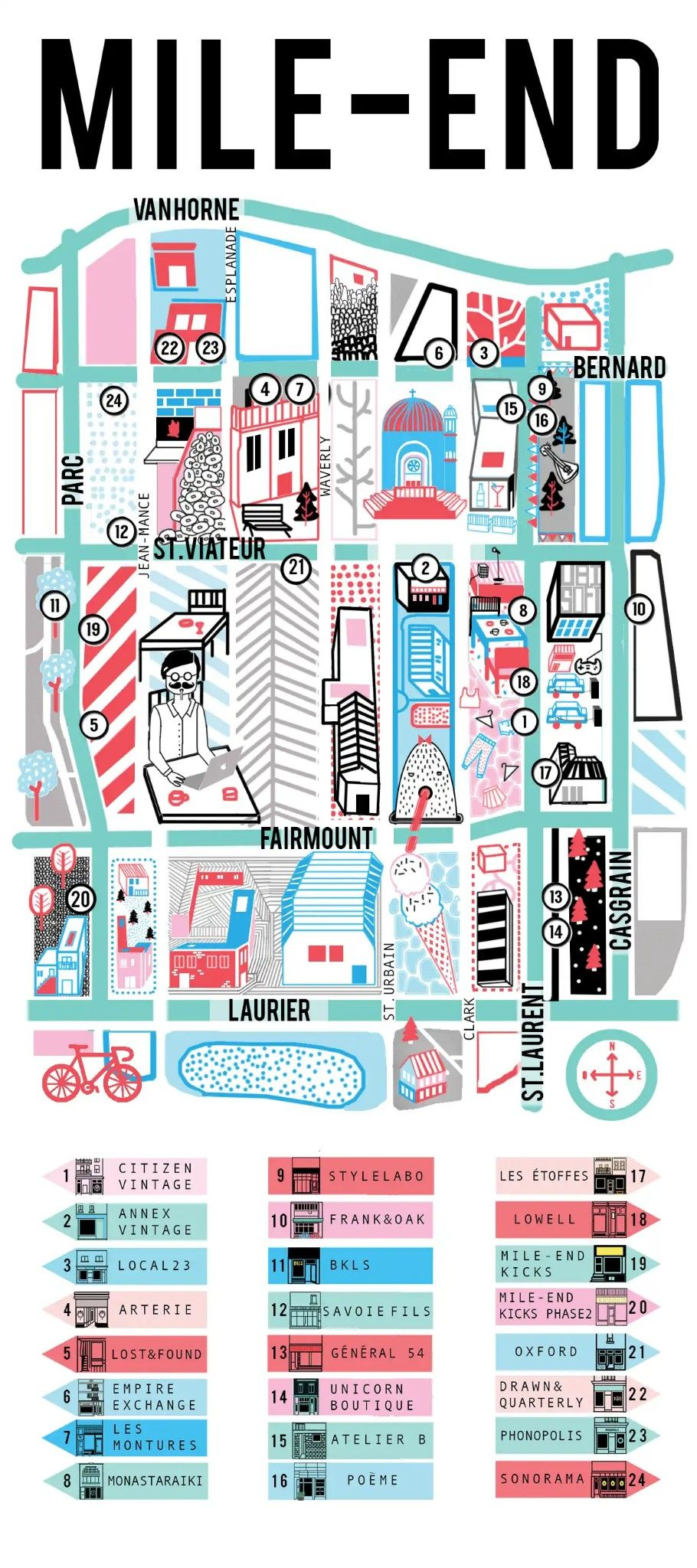 Map Of Mile End Mile End Shopping Map | Montreal in 2019 | Montreal, Map, Site