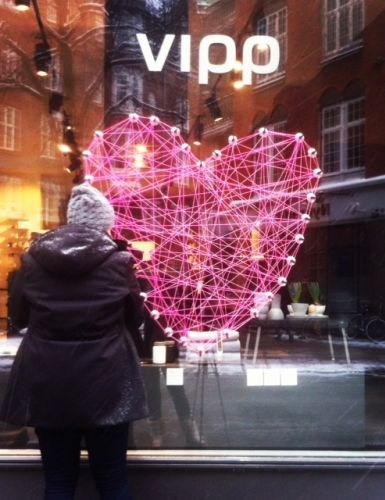 Love is in the air in the Vipp Flagship Store where we are preparing for Valentine's Day with a lot of Vipp Suction Hooks and plenty of pink thread