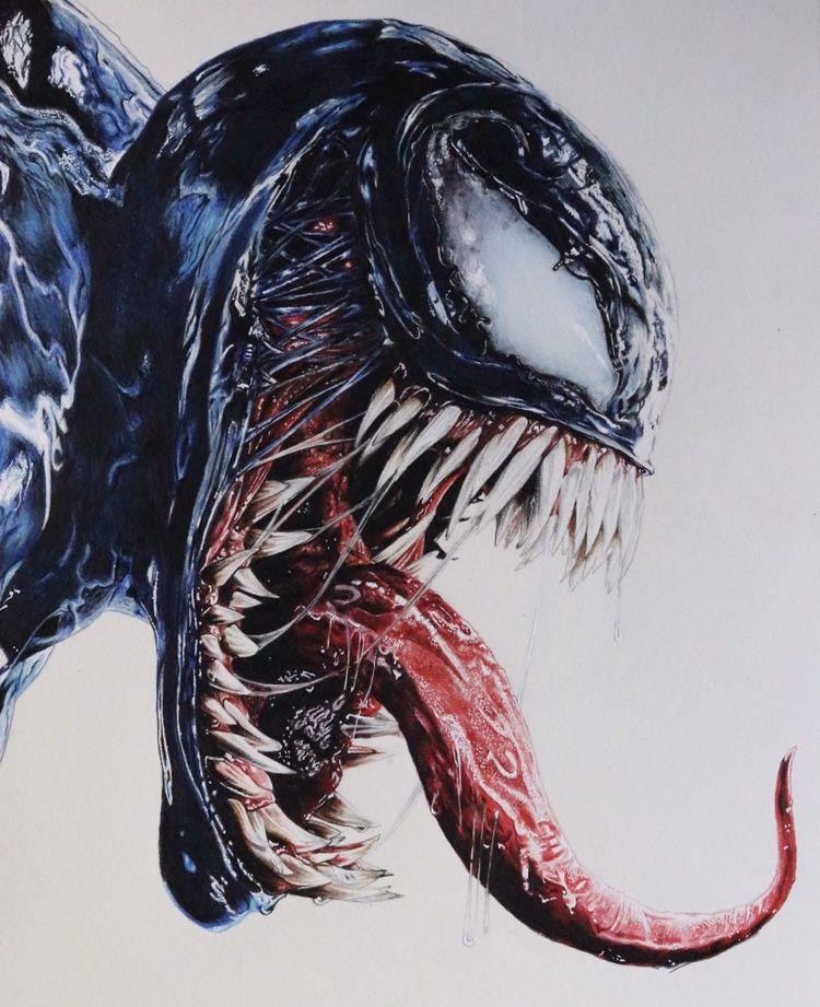 Venom Drawing Color Marvel Venom Venom Tattoo Marvel Drawings