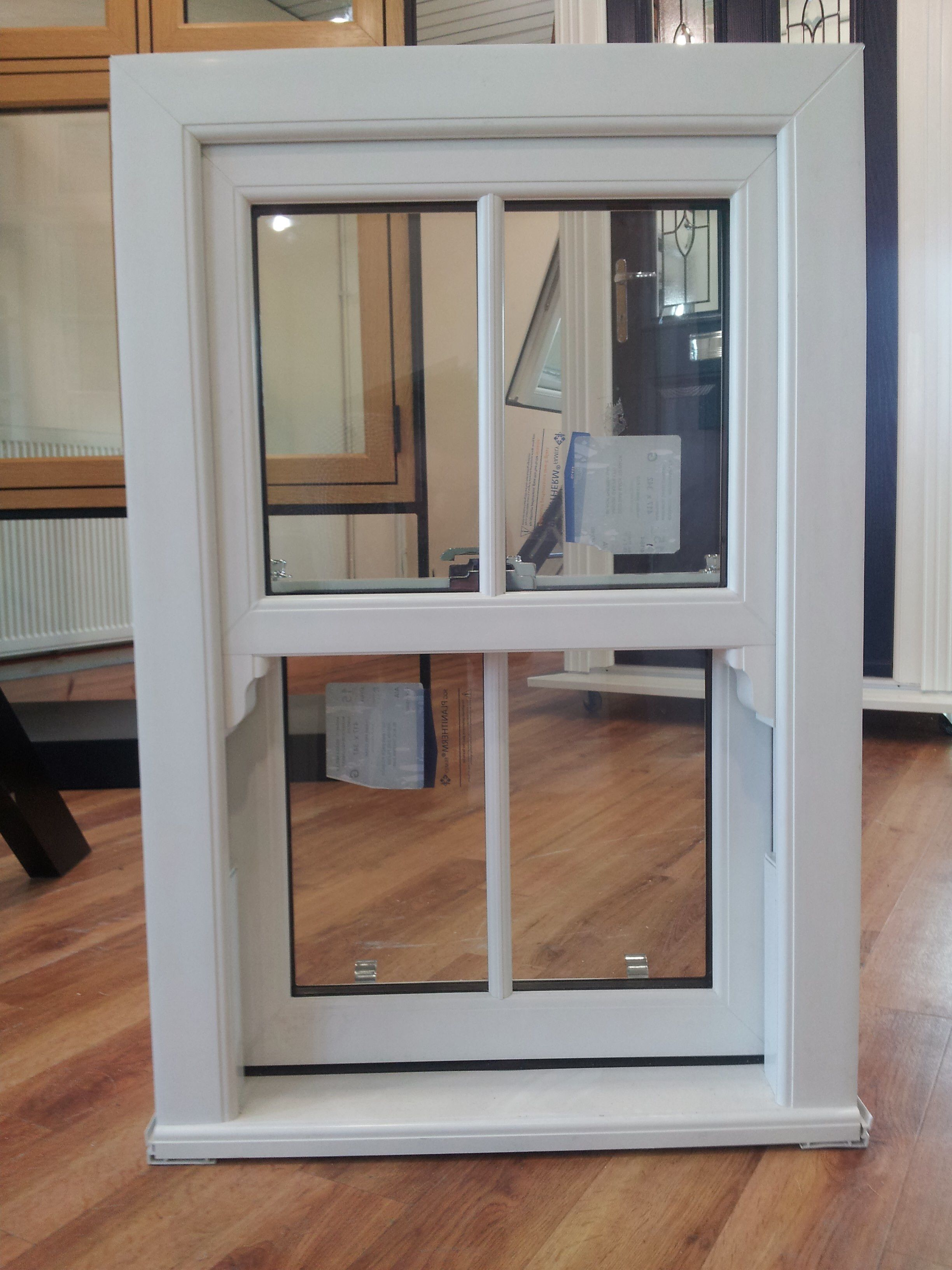 One Of Our Upvc Sliding Sash Window Samples In Our Kent Showroom Cottage Windows Window Design Casement Windows