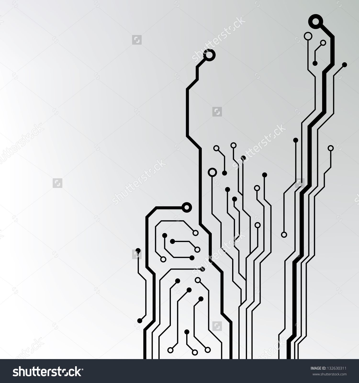 Circuit Board Pattern Abstract Technology Vector Ultrasonic Transducer Circuitultrasonic News