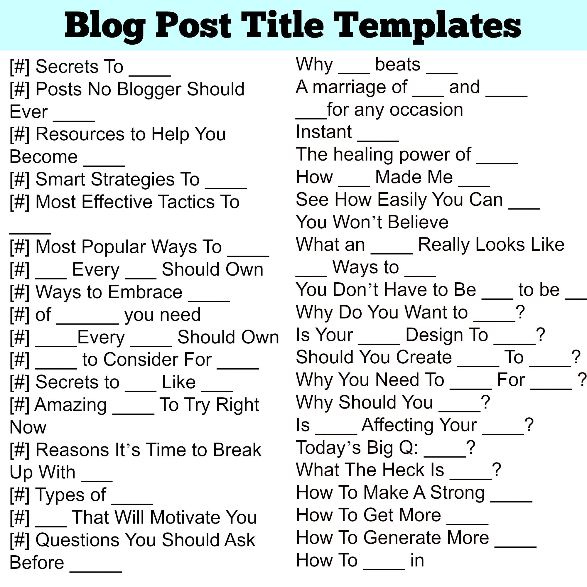 Every bloggers goal is to have their posts go viral. They spend hours and hours drafting, writing, and editing the perfect post only to slap any old title on it. A title should take just as much effort as the blog post itself did. It doesn't matter how good your blog post is, if the […]