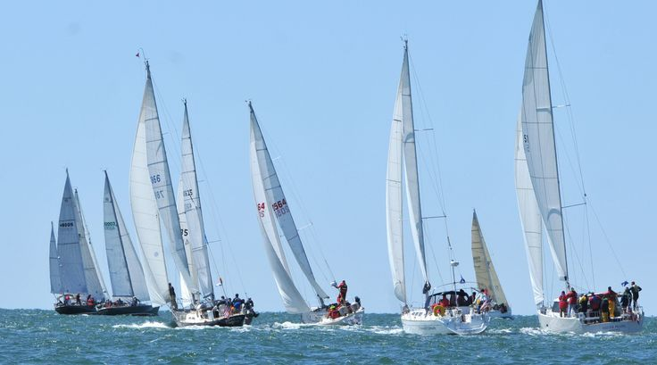 Boats head out into choppy seas in the annual Figawi Race