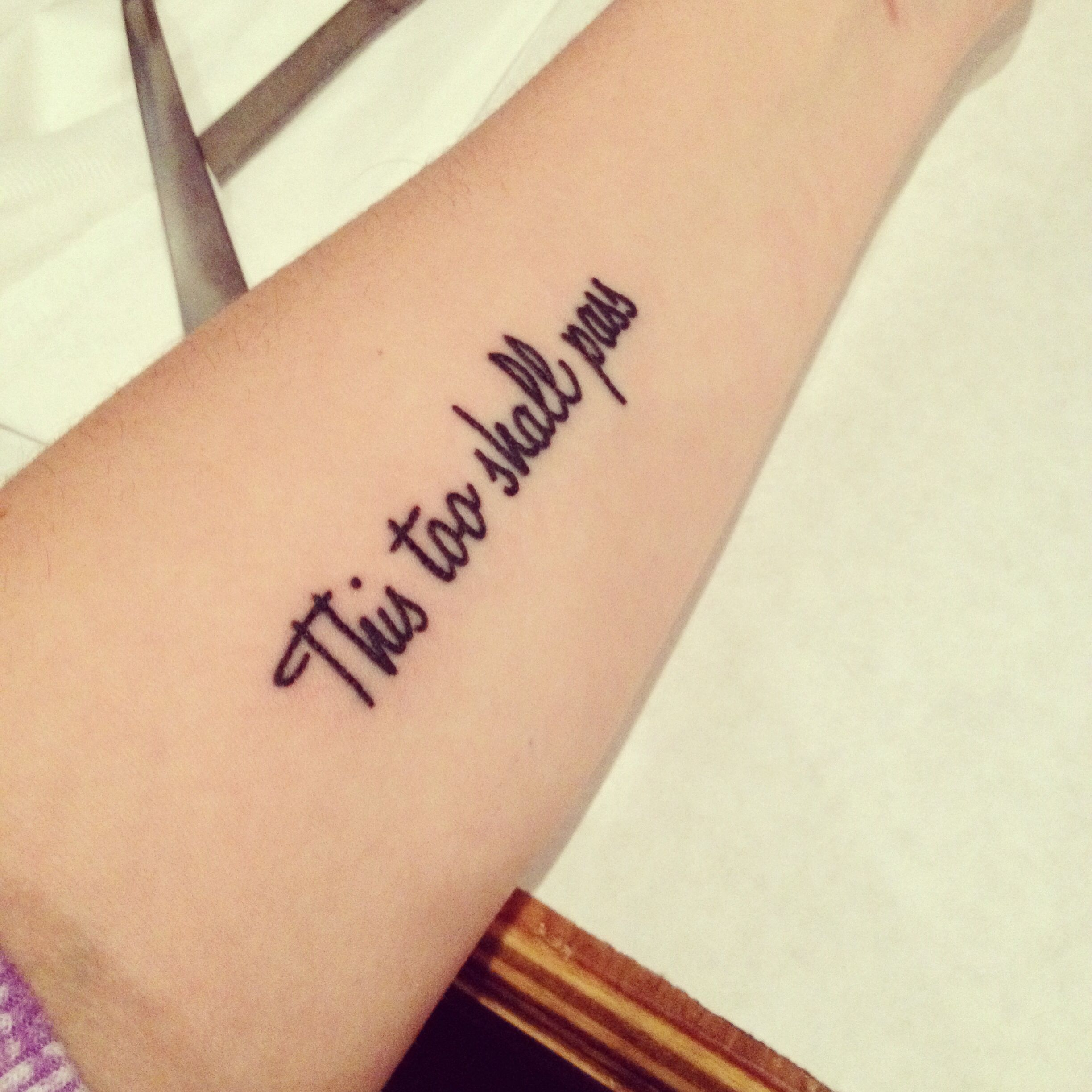 """""""This too shall pass"""" one thing my mom always said to me"""