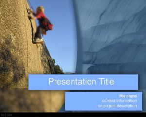 Ideal presentation theme for motivational speeches check out fppt success climbing powerpoint template is a free ppt template for successful presentations toneelgroepblik Images