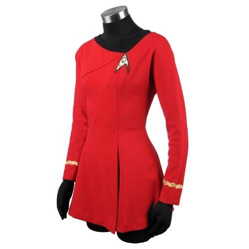 anovos star trek original series services red uhura dress large - Uhura Halloween Costume