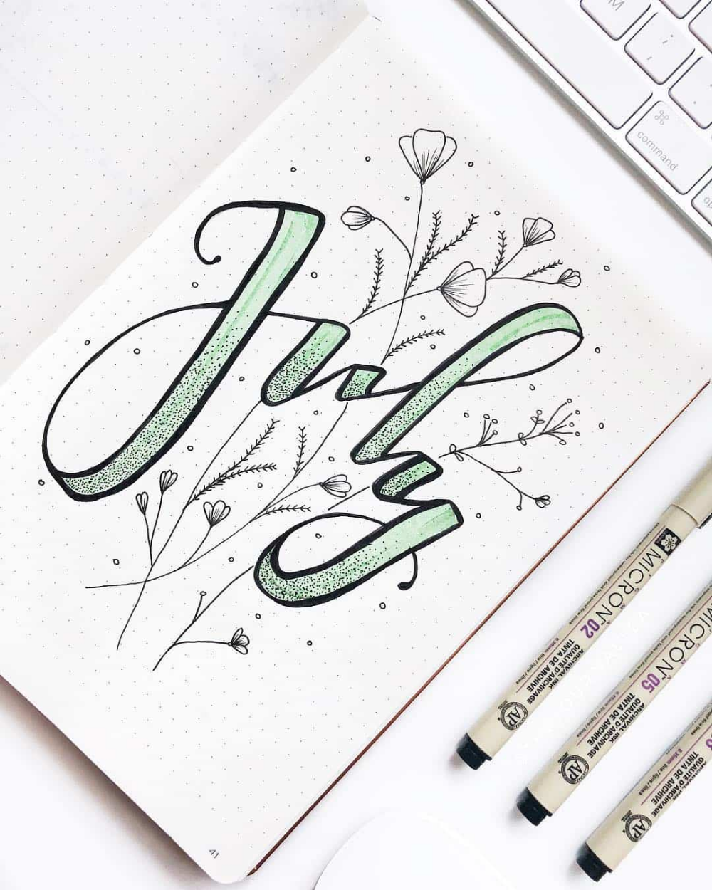 25+ Awesome mint green bullet journal themed spreads! | My Inner Creative