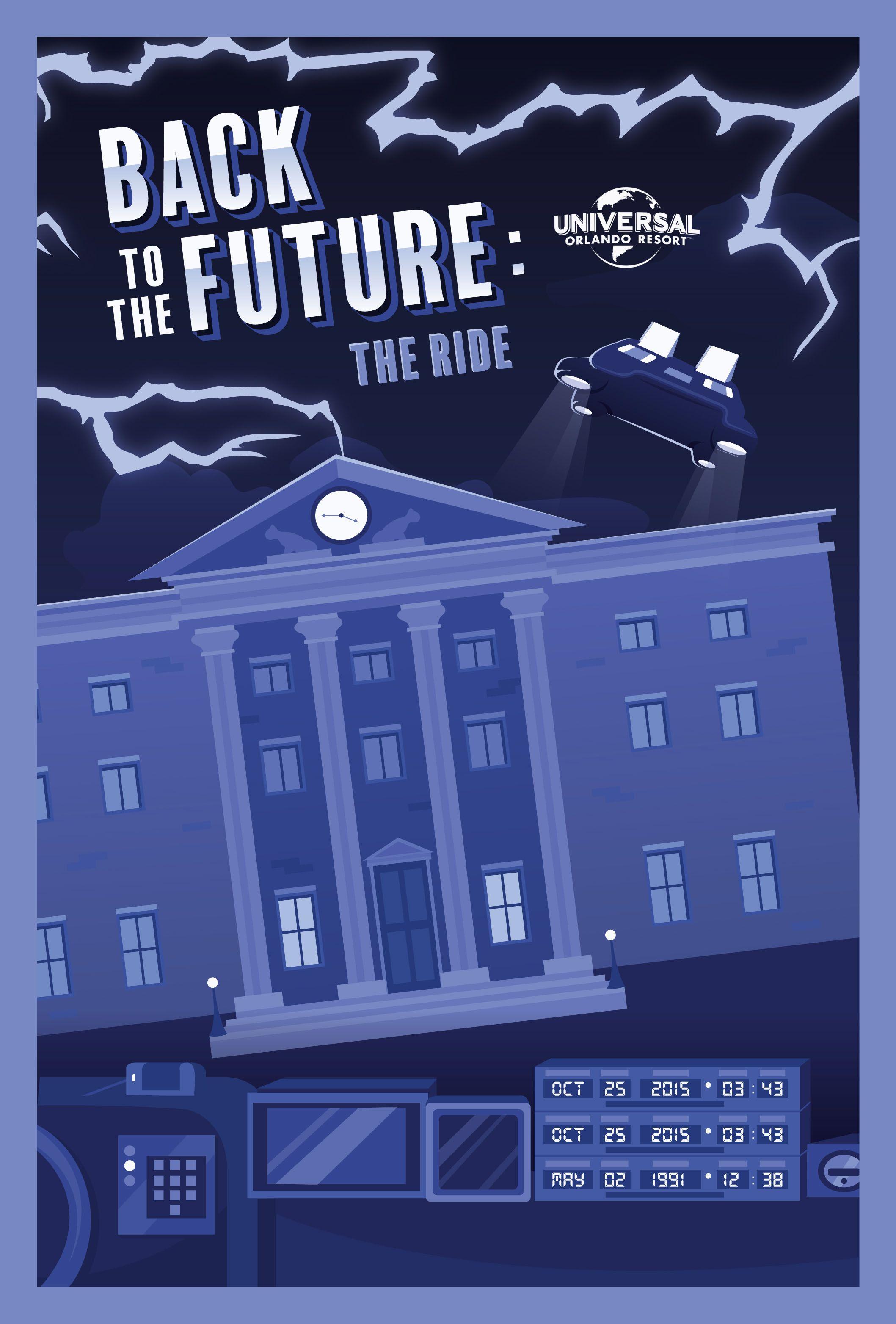 Retro Back to the Future poster