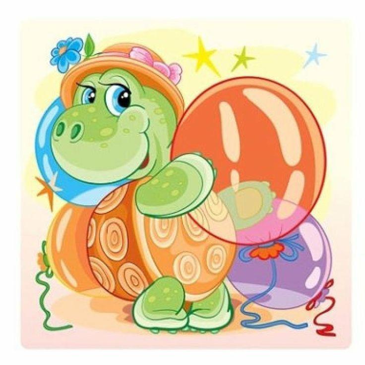 Открытка с днем рождения с черепахой, музыкальные открытки