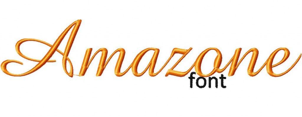 Amazone Machine Embroidery Font Set