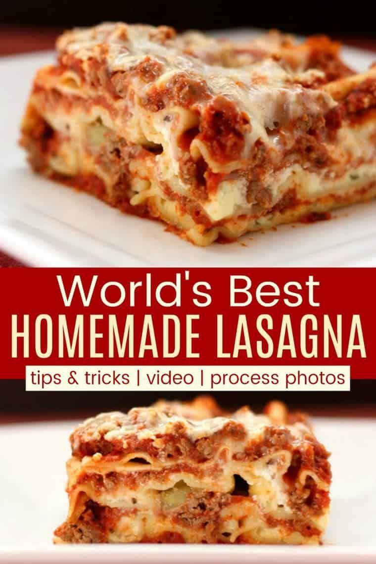 Easy Lasagna Recipe The World S Best Homemade Lasagna Recipe In 2021 Best Lasagna Recipe Classic Lasagna Recipe Homemade Lasagna Recipes