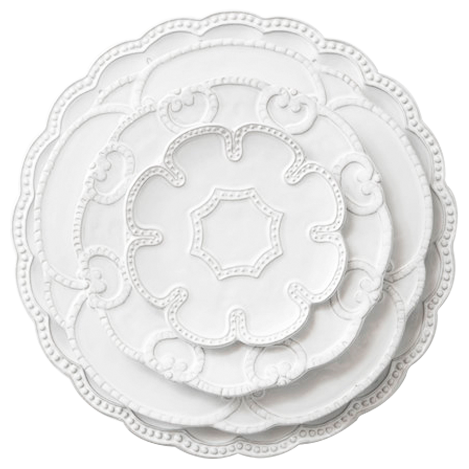 Wholesale China Embossed Dinnerware White Porcelain Tableware ...