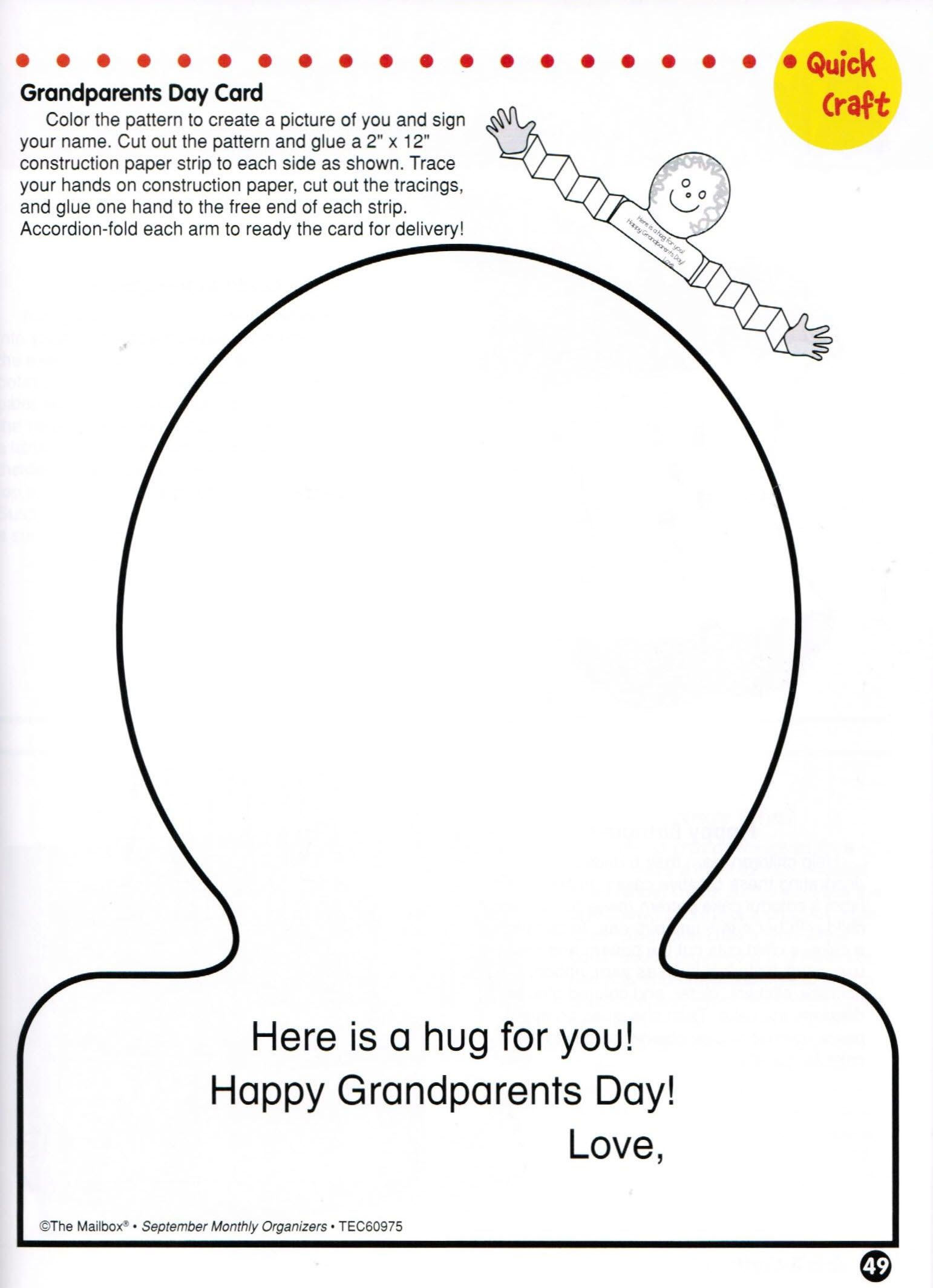 Grandparents Day Card Compliments Of The Organize September Now Series Of Teacher Resource Boo Grandparents Day Cards Grandparents Day Grandparents Day Crafts