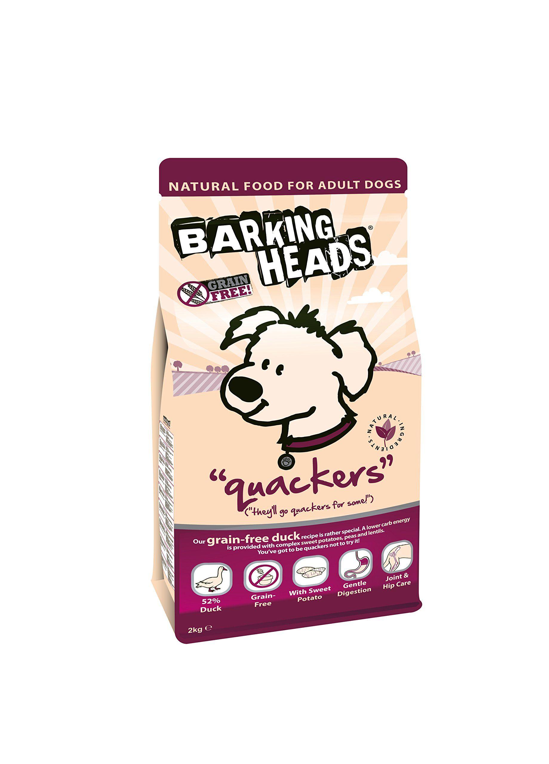Barking Heads Dog Food Quackers Grain Free Duck 2kg You Can